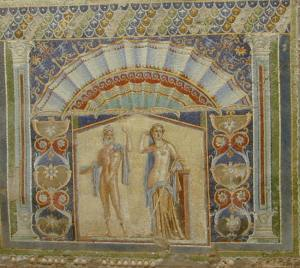 Herculaum - hinds house - wall next to it with frescoes